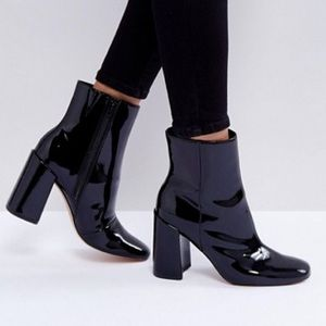 Asos Black Patent Leather Boots
